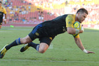 Cory Jane scores a try during the Global Tens in Brisbane last month. Photo / Getty