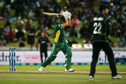 AB de Villiers of South Africa hits the winning runs in the opening ODI. Photo / Getty