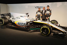 The 2017 spec Force India at the team's season launch. Photo / Getty Images