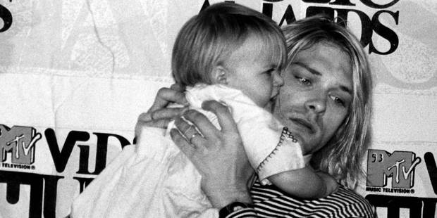 Kurt Cobain with his daughter Frances Bean. Photo / Getty
