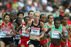 Kimberley Smith competes in the women's 10,000 Metres Final in 2009. Photo / Getty Images
