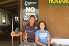 Mana Movement leader Hone Harawira with granddaughter Maioha, 10, at his Far North home. Photo / David Fisher
