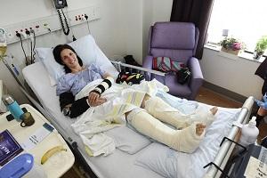 Tina Jennen, in hospital