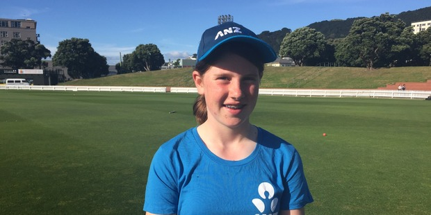 Loading Erin Buckland, 13, got to meet Black Caps players and train with them this afternoon.
