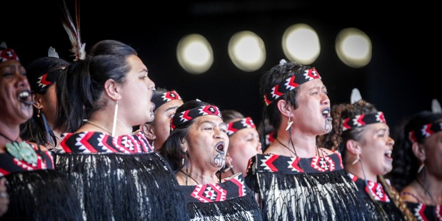 PASSION: Louise Kingi, (middle) who has performed in the competition since it began in 1972 and is still performing this year for Waihirere from Gisborne. PHOTO/PAUL TAYLOR.