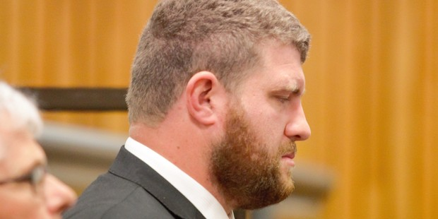 Philip Kinraid in the dock before sentencing at the High Court in New Plymouth. Photo / Sam Hurley