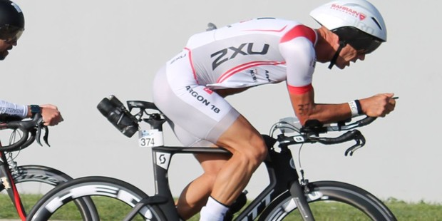 Ross Lockey back on his bike and training for Ironman New Zealand.