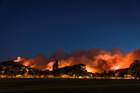 Port Hills fire, earlier this week. Photograph supplied by Mark Hannah Photography.