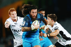 Rene Ranger of the Blues on the charge. Photo / Photosport.co.nz