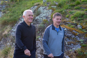 Australian Prime Minister Malcolm Turnbull and Prime Minister Bill English on a walk in Queenstown. PHOTO/Mark Mitchell
