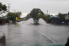 Flooding in Kawerau at the weekend. Photo/Supplied