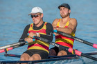 Luke Watts and Hugh Pawson got silver in the men's senior double sculls at the NZ Rowing Championships.