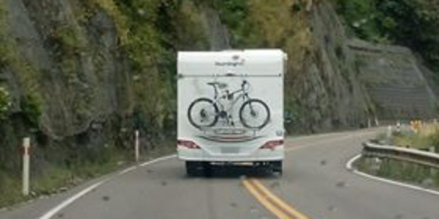 The campervan veered over the centre line before it ended up on the opposite side of the road. Photo / Supplied