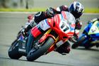 CONTENDER: Whakatane's Tony Rees (Honda CBR1000RR). PHOTO/ANDY McGECHAN, BIKESPORTNZ.COM