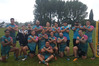 BACK TO BACK: Napier Pirate Rugby and Sports celebrate a second consecutive Hawke's Bay Sevens title in Waipukurau on Saturday night. PHOTO/SUPPLIED