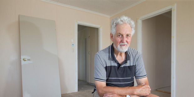 Full-time landlord Ron Goodwin in his Stanmore Bay rental which has gone through huge repairs, partly due to high traces of methamphetamine being discovered. Photo/Nick Reed
