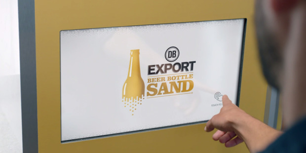 Loading Through its recycling initiative DB Export aims to convert its used bottles to 100 tonnes of sand substitute. That's equal to about 500,000 beer bottles. Photo / Still from promo video