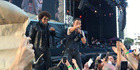 Bruce Springsteen entertained the crowds in Christchurch on Tuesday night. Photo / Tania Gibson