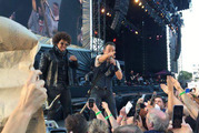 Bruce Springsteen performs in Christchurch. Photo / Tania Gibson