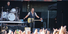 """Bruce Springsteen opened the concert with a greeting of """"Finally, Christchurch ..."""". Photo / Anastasia Hedge"""