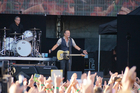 Bruce Springsteen opened the concert with a greeting of