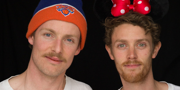 Comedians Guy Montgomery and Tim Batt, hosts of podcast The Worst Idea of All Time. Photo/Supplied