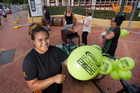 Council employee Malia Niuapu helps launch the district's extended Smokefree Outdoor Spaces Policy. PHOTO/BEN FRASER