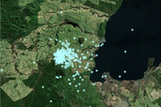 A swarm of nearly 300 quakes have been recorded in the Taupo and Rotorua areas. PHOTO/SUPPLIED BY GEONET