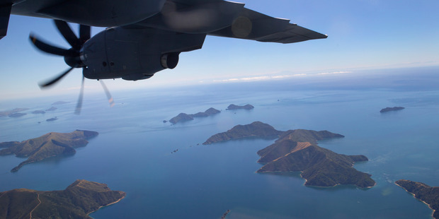 The view from the Airbus A400M. Photo / Mark Mitchell