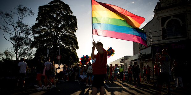 Celebrating Pride on Ponsonby Rd, Auckland. Photo / Dean Purcell
