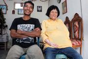 Sofian Loho Dandel with his wife Martha Potu. Photo / Caters