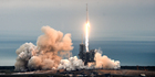 The SpaceX Falcon rocket launches from the Kennedy Space Centre in Florida on Sunday, February 19, 2017, carrying a load of supplies for the International Space Station. Photo / AP