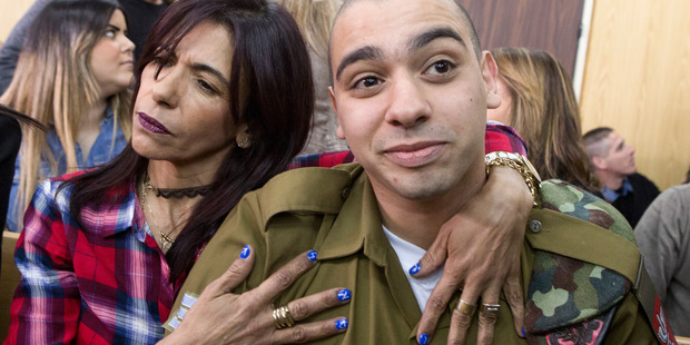 The court sentenced Azaria to 18 months in prison for the fatal shooting of a wounded Palestinian assailant. Photo / AP