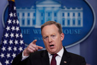 White House press secretary Sean Spicer speaks during a daily press briefing at the White House in Washington. Photo / AP