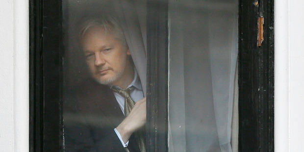 WikiLeaks founder Julian Assange has been holed up in Ecuador's London embassy since 2012. Photo / AP
