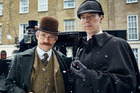 Sherlock boss Mark Gatiss has revealed the BBC programme could be axed after struggling to find time when both Benedict Cumberbatch and Martin Freeman can film together. Photo / BBC