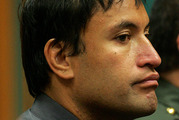 Jason Reihana on trial for murder in 2007. Picture / Alan Gibson