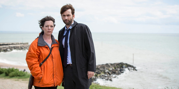 Olivia Colman and David Tennant star in Broadchurch. Photo/Supplied