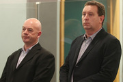 Stephen Borlase (left) was found guilty on eight bribery and corruption charges and Murray Noone (right) was found guilty on six charges at the High Court in Auckland today. Photo / Greg Bowker