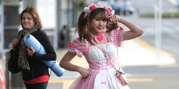 Maid cafe host Michel.Sea says she is disappointed that the cosplay maid waitresses will not be part of Japan Day. Picture /  Doug Sherring