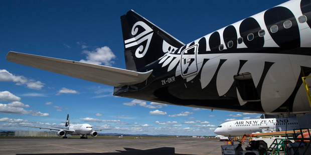 Air New Zealand's pretax earnings fell to $349 million in the six months ended December 31 from $457m in the same period a year earlier. Photo / Jason Oxenham