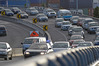 Traffic is heavy after a two car collision on Tauranga Harbour Bridge. Photo/File