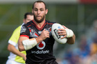 Warriors vice-captain Simon Mannering played his first game of the season in today's NRL trial against the Gold Coast Titans. Photo / New Zealand Herald Jason Oxenham.
