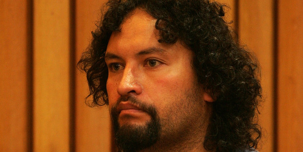Jason Reihana in the Tauranga District Court in 2005 following the attack in  the Tauranga suburb of Greerton that left two people dead. Photo / File