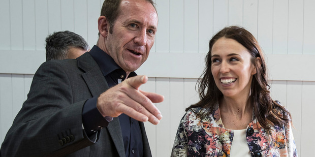 From the day she launched her campaign for Mt Albert back in January, it was clear Jacinda Ardern, pictured with Andrew Little, was going to win. Photo /  Michael Craig