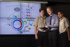 Rotorua Boys' High School teacher Matt Dalton (centre) with Caleb Olsen, 17 (left), and Callum McCaull, 17. PHOTO/FILE