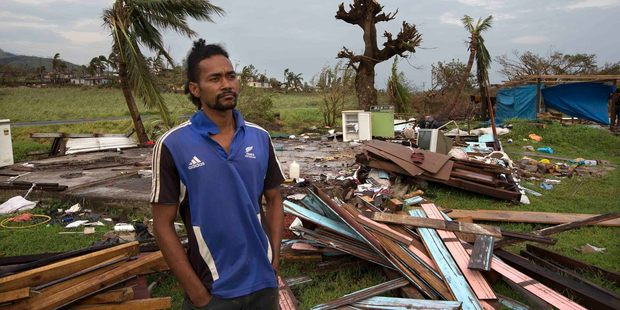 Asesela Sadole Fong's home north of Nadi was destroyed in Cyclone Winston. Photo / Brett Phibbs