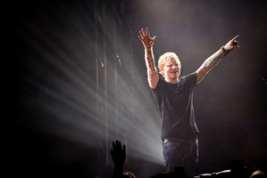 Ed Sheeran performs in Auckland in 2014. Photo / Dean Purcell