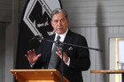 NZ First leader Winston Peters has warned Grey Power members in the North Shore that NZ Super is under threat - and hit at Act and National over the possibility of raising the retirement age to 67. Photo / File