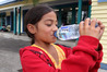 CLEAN WATER: Shiloh from Waimarama School with a bottle of water supplied to the school from the Hastings District Council. PHOTO/DUNCAN BROWN.